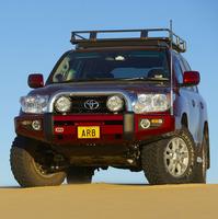 Бампер силовой SAHARA,   c установкой для TOYOTA Land Cruiser 200 c 2012 --