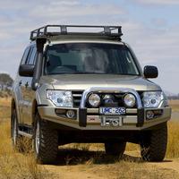 Бампер силовой SAHARA, c установкой для Mitsubishi Pajero 2007-2011