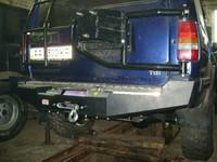 Бампер силовой, задний для Land Rover Discovery 1