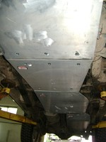 Защита днища, передняя, КПП, РК, топливный бак Mitsubishi Pajero Sport