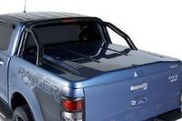 Крышка багажного отсека с дугами Ford Ranger 2015+, система крепления TANGO, черная, текстурированный пластик (дуги из нерж стали)